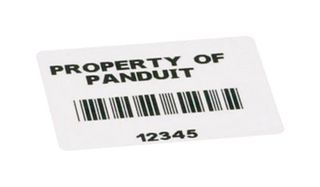 LABEL, POLYESTER, WHITE, 50.8MM X 25.4MM