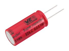 SUPERCAPACITOR, 15F, 2.7V, RADIAL