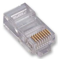 MODULAR PLUG, RJ45 CAT5, 8WAY, 1PORT