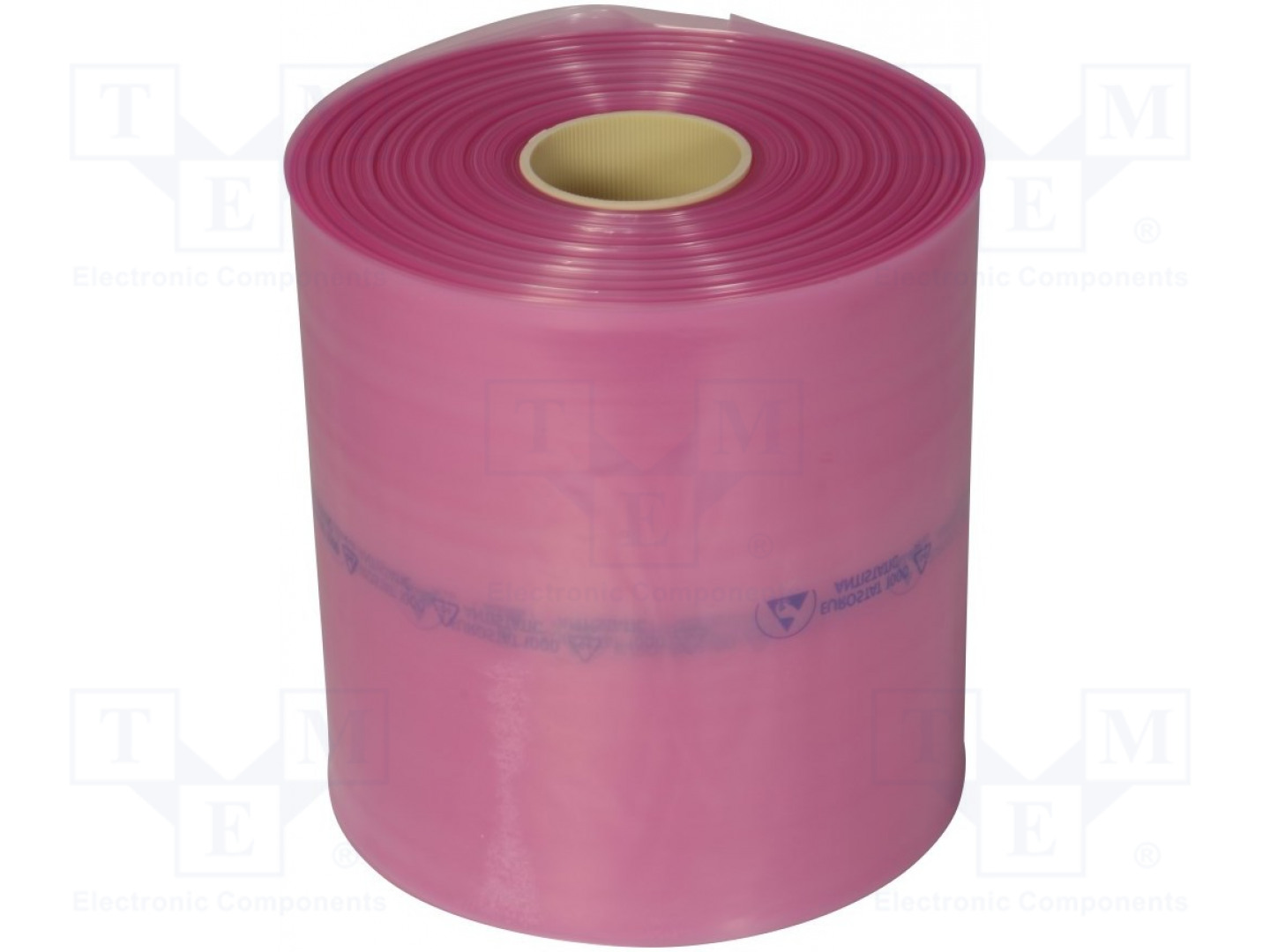 Antistatic Protection bag Roll 250m ESD, W: 250mm; IEC 61340-5-1; pink; <10TΩ