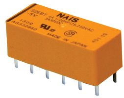 RELAY, DPST, 250VAC, 30VDC, 4A