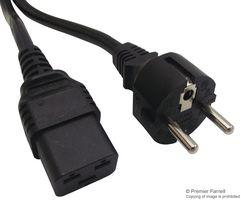 POWER CORD, CEE 7/7 PLUG-IEC C19, 2M