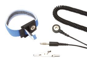DUAL WIRE ADJUSTABLE FABRIC WRISTBAND AND 12 FT CORD