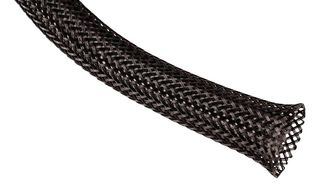 SLEEVING, EXPANDABLE, 3.175MM, BLACK, 100FT