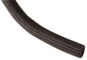 SLEEVING, INSULATING, FIBERGLASS, BLACK, 6.35MM, 100FT