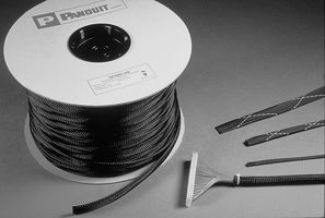 SLEEVING, EXPANDABLE, 6.4MM, BLACK, 200FT