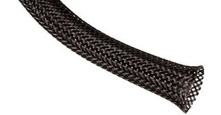 SLEEVING, EXPANDABLE, 25.4MM ID, PET, BLACK, 15.24M/50FT