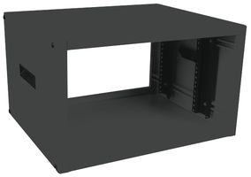 RACK CABINET, TABLE TOP, 8.75IN, STEEL BLACK