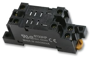 SOCKET, DIN/SURFACE, 2 POLE, RELAY