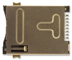 CONNECTOR, SIM, 6POSITION, PUSH/PUSH