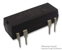 RELAY, REED, DPST-NO, 200VDC, 0.5A, THT