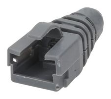 STRAIN RELIEF BOOT, RJ45 CONN, GREY